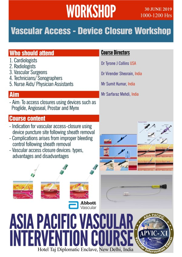 VASCULAR ACCESS - DEVICE CLOSURE WORKSHOP